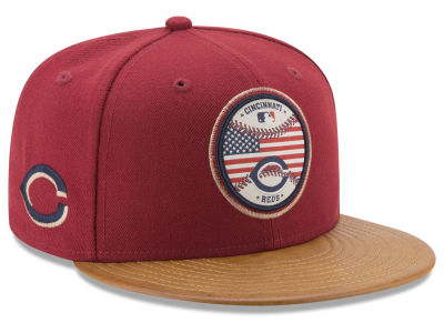 Cincinnati Reds New Era MLB Leather Americana 59FIFTY Cap