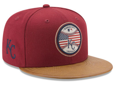 Kansas City Royals New Era MLB Leather Americana 59FIFTY Cap