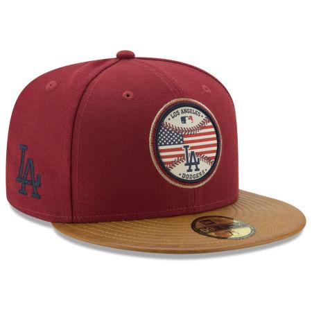 Los Angeles Dodgers New Era MLB Leather Americana 59FIFTY Cap