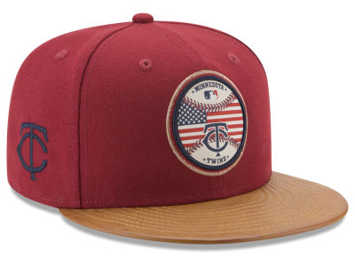 Minnesota Twins New Era MLB Leather Americana 59FIFTY Cap