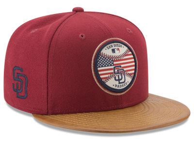 San Diego Padres New Era MLB Leather Americana 59FIFTY Cap