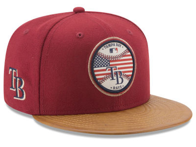 Tampa Bay Rays New Era MLB Leather Americana 59FIFTY Cap