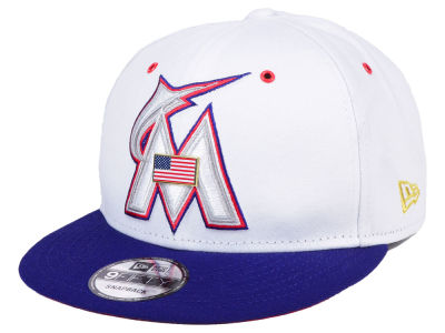 Miami Marlins New Era MLB Metal America 9FIFTY Snapback Cap
