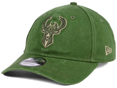 Milwaukee Bucks New Era NBA All Olive 9TWENTY Dad Hat