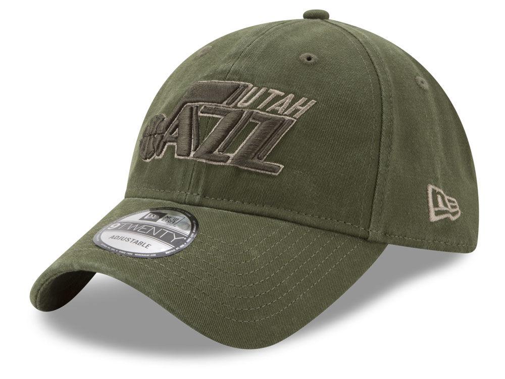 2d3b9090a20 Utah Jazz New Era NBA All Olive 9TWENTY Dad Hat