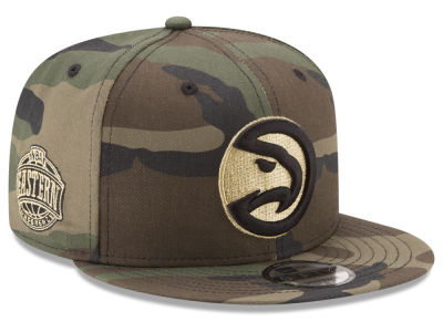 Atlanta Hawks New Era NBA Metallic Woodland 9FIFTY Snapback Cap