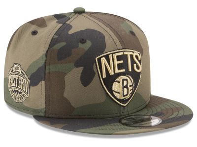 Brooklyn Nets New Era NBA Metallic Woodland 9FIFTY Snapback Cap