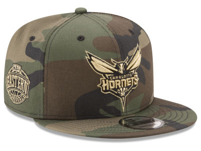 Charlotte Hornets New Era NBA Metallic Woodland 9FIFTY Snapback Cap