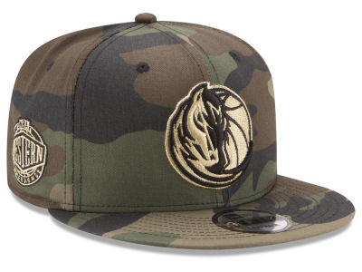 Dallas Mavericks New Era NBA Metallic Woodland 9FIFTY Snapback Cap