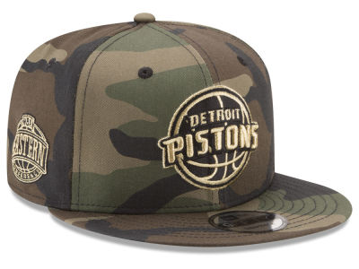 Detroit Pistons New Era NBA Metallic Woodland 9FIFTY Snapback Cap