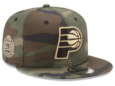 Indiana Pacers New Era NBA Metallic Woodland 9FIFTY Snapback Cap