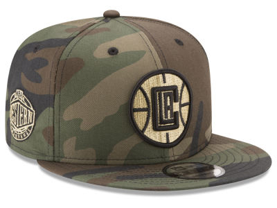 Los Angeles Clippers New Era NBA Metallic Woodland 9FIFTY Snapback Cap