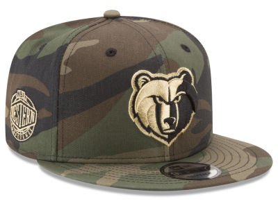 Memphis Grizzlies New Era NBA Metallic Woodland 9FIFTY Snapback Cap