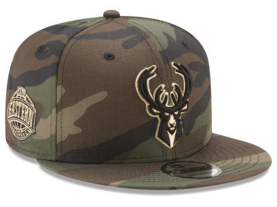 Milwaukee Bucks New Era NBA Metallic Woodland 9FIFTY Snapback Cap