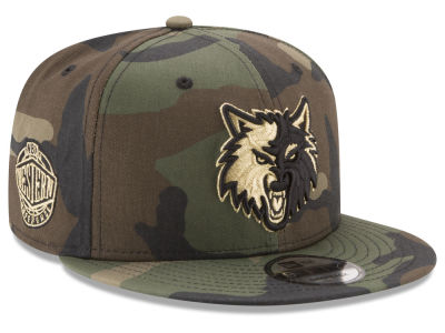 Minnesota Timberwolves New Era NBA Metallic Woodland 9FIFTY Snapback Cap