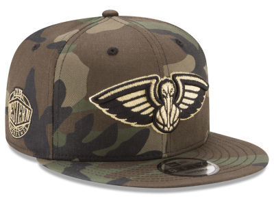 New Orleans Pelicans New Era NBA Metallic Woodland 9FIFTY Snapback Cap