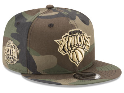 New York Knicks New Era NBA Metallic Woodland 9FIFTY Snapback Cap