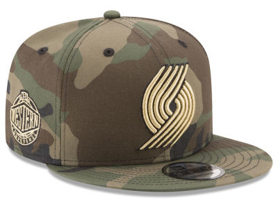 Portland Trail Blazers New Era NBA Metallic Woodland 9FIFTY Snapback Cap