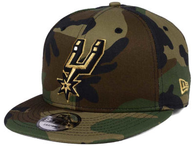 San Antonio Spurs New Era NBA Metallic Woodland 9FIFTY Snapback Cap