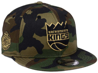 Sacramento Kings New Era NBA Metallic Woodland 9FIFTY Snapback Cap