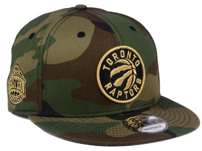 Toronto Raptors New Era NBA Metallic Woodland 9FIFTY Snapback Cap