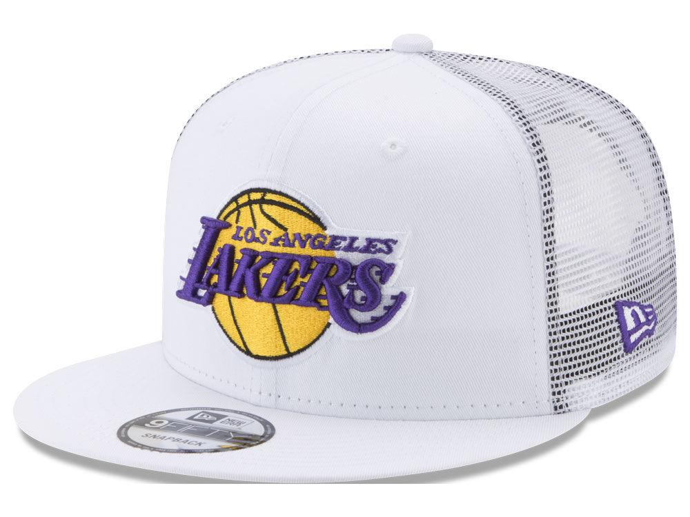 Los Angeles Lakers New Era NBA Summer Time Mesh 9FIFTY Snapback Cap ... 67e742816d6f