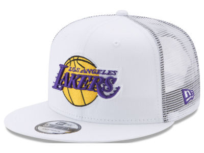Los Angeles Lakers New Era NBA Summer Time Mesh 9FIFTY Snapback Cap