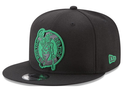 Boston Celtics New Era NBA Patent Blackout 9FIFTY Snapback Cap