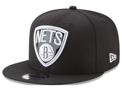 Brooklyn Nets New Era NBA Patent Blackout 9FIFTY Snapback Cap