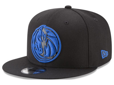 Dallas Mavericks New Era NBA Patent Blackout 9FIFTY Snapback Cap