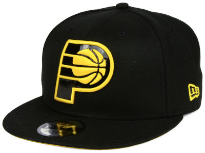 Indiana Pacers New Era NBA Patent Blackout 9FIFTY Snapback Cap