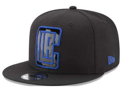 Los Angeles Clippers New Era NBA Patent Blackout 9FIFTY Snapback Cap