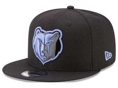 Memphis Grizzlies New Era NBA Patent Blackout 9FIFTY Snapback Cap