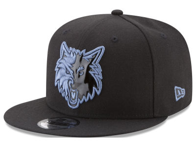 Minnesota Timberwolves New Era NBA Patent Blackout 9FIFTY Snapback Cap