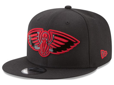 New Orleans Pelicans New Era NBA Patent Blackout 9FIFTY Snapback Cap