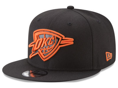Oklahoma City Thunder New Era NBA Patent Blackout 9FIFTY Snapback Cap