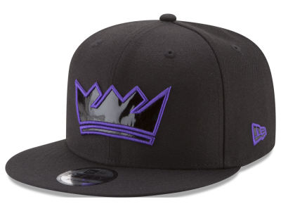 Sacramento Kings New Era NBA Patent Blackout 9FIFTY Snapback Cap