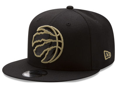 Toronto Raptors New Era NBA Patent Blackout 9FIFTY Snapback Cap