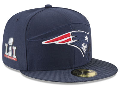 New England Patriots New Era NFL Super Bowl LI Sideline Patch 59FIFTY Cap