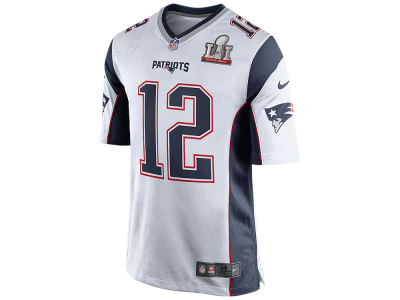 New England Patriots Tom Brady Nike NFL Men's Super Bowl LI Patch Game Jersey