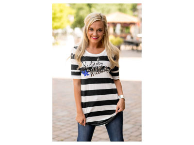 Kentucky Wildcats Gameday Couture NCAA Women's Stripe Gold T-Shirt