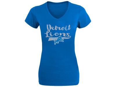 Detroit Lions NFL Women's Glaze V-Neck T-Shirt