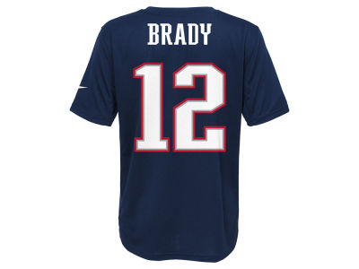 New England Patriots Tom Brady Nike NFL Youth Super Bowl LI Bound Name and Number T-Shirt