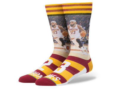 Cleveland Cavaliers LeBron James Stance NBA Player Jersey Crew Sock