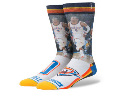 Oklahoma City Thunder Russell Westbrook Stance NBA Player Jersey Crew Sock