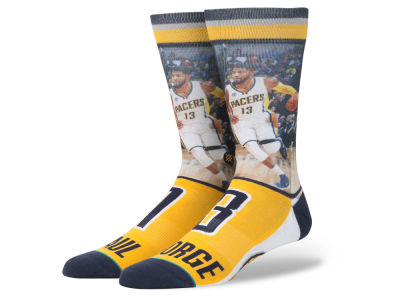 Indiana Pacers Paul George Stance NBA Player Jersey Crew Sock