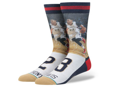 New Orleans Pelicans Anthony Davis Stance NBA Player Jersey Crew Sock
