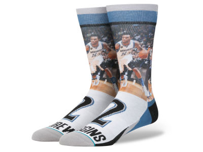 Minnesota Timberwolves Andrew Wiggins Stance NBA Player Jersey Crew Sock
