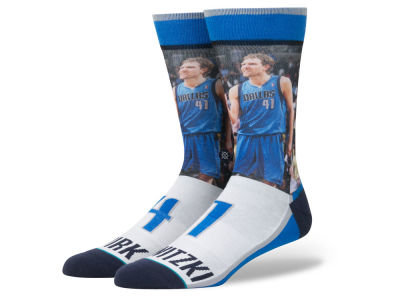 Dallas Mavericks Dirk Nowitzki Stance NBA Player Jersey Crew Sock