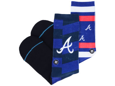 Atlanta Braves Stance MLB Splatter Crew Sock